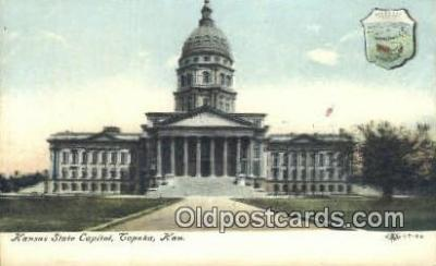 cap001610 - Topeka, Kansas, KS  State Capital, Capitals Postcard Post Card USA