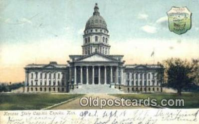 cap001614 - Topeka, Kansas, KS  State Capital, Capitals Postcard Post Card USA