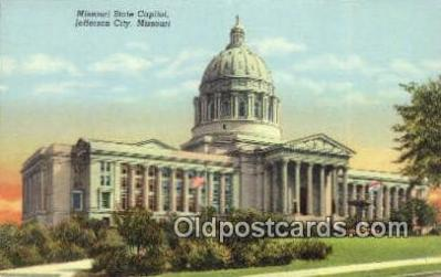 cap001619 - Jefferson City, Missouri , MO State Capital, Capitals Postcard Post Card USA