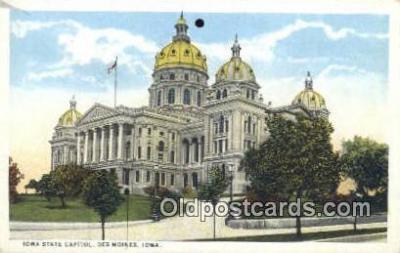 cap001629 - Des Moines, Iowa, IA State Capital, Capitals Postcard Post Card USA