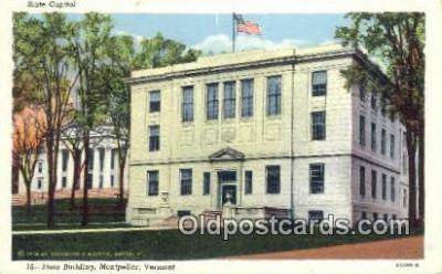 cap001635 - Montpelier, Vermont, VT State Capital, Capitals Postcard Post Card USA