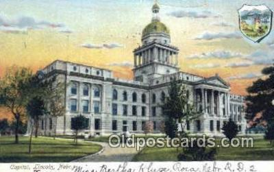 cap001639 - Lincoln, Nebraska, NE  State Capital, Capitals Postcard Post Card USA