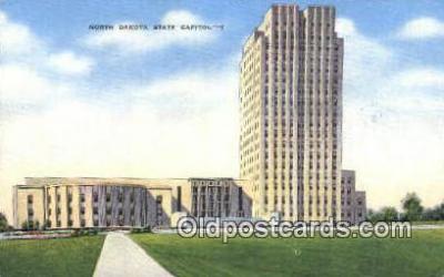 cap001641 - Bismarck, North Dakota, ND State Capital, Capitals Postcard Post Card USA