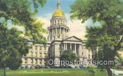cap001643 - Denver, Colorado, CO State Capital, Capitals Postcard Post Card USA