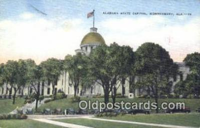 cap001662 - Montgomery, Alabama, AL  State Capital, Capitals Postcard Post Card USA