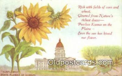 cap001668 - Topeka, Kansas, KS  State Capital, Capitals Postcard Post Card USA