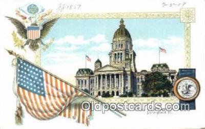 cap001681 - Springfield, Illinois, IL State Capital, Capitals Postcard Post Card USA