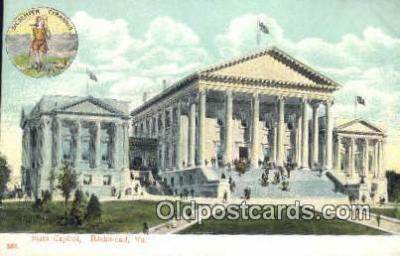 cap001699 - Richmond, Virginia, VA  State Capital, Capitals Postcard Post Card USA