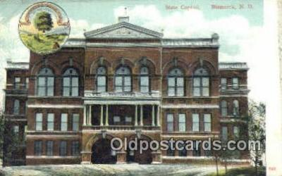 cap001703 - Bismarck, North Dakota, ND State Capital, Capitals Postcard Post Card USA