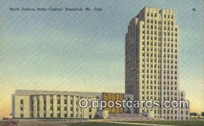 cap001713 - Bismarck, North Dakota, ND State Capital, Capitals Postcard Post Card USA