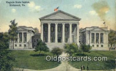 cap001715 - Richmond, Virginia, VA  State Capital, Capitals Postcard Post Card USA