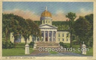 cap001721 - Montpelier, Vermont, VT State Capital, Capitals Postcard Post Card USA