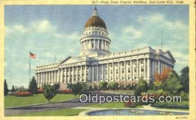 cap001722 - Salt Lake City, Utah, UT  State Capital, Capitals Postcard Post Card USA