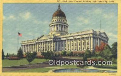 cap001723 - Salt Lake City, Utah, UT  State Capital, Capitals Postcard Post Card USA