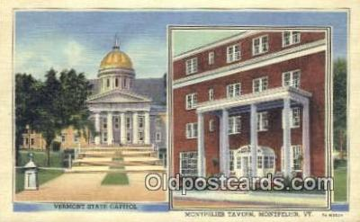 cap001724 - Montpelier, Vermont, VT State Capital, Capitals Postcard Post Card USA