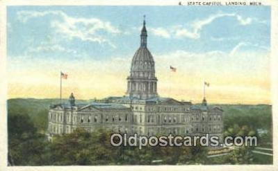 cap001729 - Lansing, Michigan, MI  State Capital, Capitals Postcard Post Card USA
