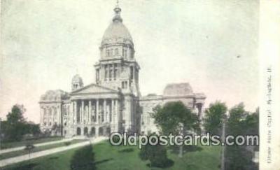 cap001739 - Springfield, Illinois, IL State Capital, Capitals Postcard Post Card USA