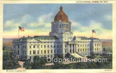 cap001746 - Pierre, South Dakota, SD State Capital, Capitals Postcard Post Card USA