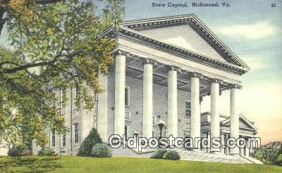 cap001752 - Richmond, Virginia, VA  State Capital, Capitals Postcard Post Card USA