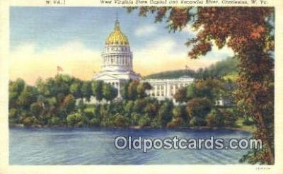 cap001753 - Charleston, West Virginia, WV State Capital, Capitals Postcard Post Card USA