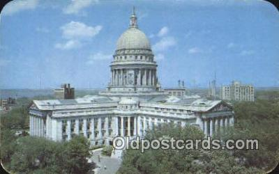 cap001790 - Madison, Wisconsin, WI State Capital, Capitals Postcard Post Card USA