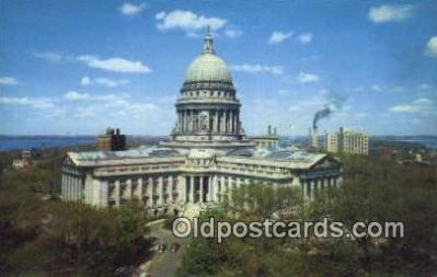 cap001798 - Madison, Wisconsin, WI State Capital, Capitals Postcard Post Card USA