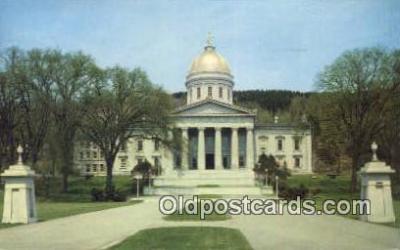 cap001800 - Montpelier, Vermont, VT State Capital, Capitals Postcard Post Card USA