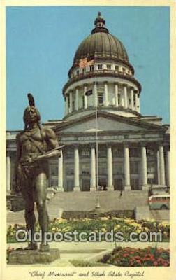 cap001802 - Salt Lake City, Utah, UT  State Capital, Capitals Postcard Post Card USA