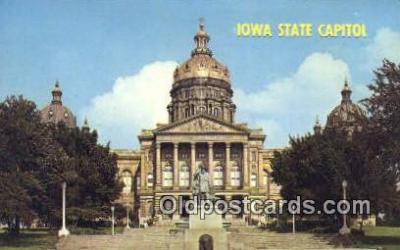 cap001803 - Des Moines, Iowa, IA State Capital, Capitals Postcard Post Card USA