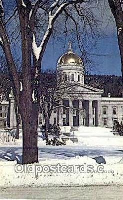 cap001804 - Montpelier, Vermont, VT State Capital, Capitals Postcard Post Card USA