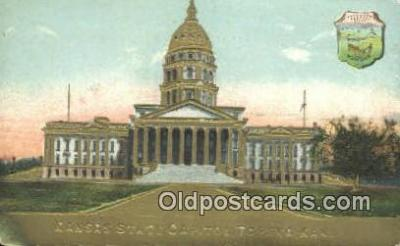 cap001824 - Topeka, Kansas, KS  State Capital, Capitals Postcard Post Card USA