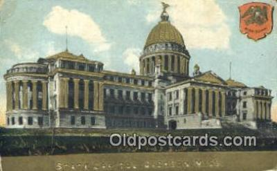 cap001830 - Jackson, Mississippi, MS State Capital, Capitals Postcard Post Card USA