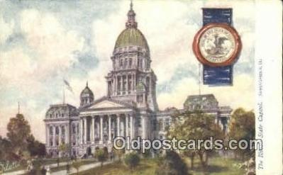 cap001843 - Springfield, Illinois, IL State Capital, Capitals Postcard Post Card USA