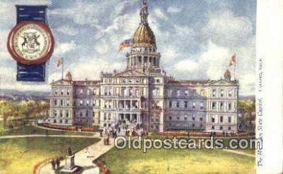 cap001849 - Lansing, Michigan, MI  State Capital, Capitals Postcard Post Card USA