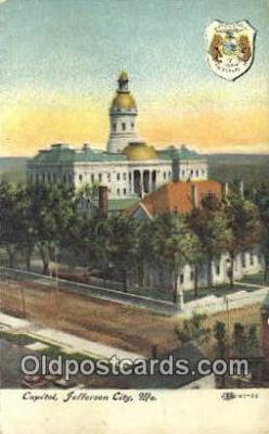 cap001882 - Jefferson City, Missouri , MO State Capital, Capitals Postcard Post Card USA