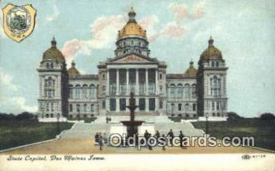 cap001883 - Des Moines, Iowa, IA State Capital, Capitals Postcard Post Card USA