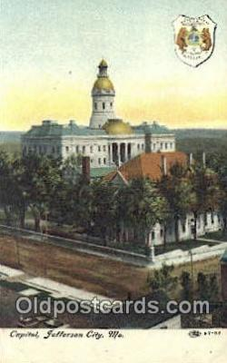 cap001888 - Jefferson City, Missouri , MO State Capital, Capitals Postcard Post Card USA