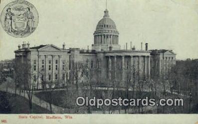 cap001897 - Madison, Wisconsin, WI State Capital, Capitals Postcard Post Card USA
