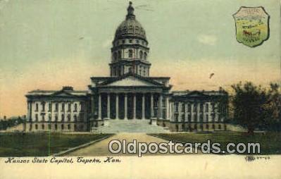 cap001901 - Topeka, Kansas, KS  State Capital, Capitals Postcard Post Card USA