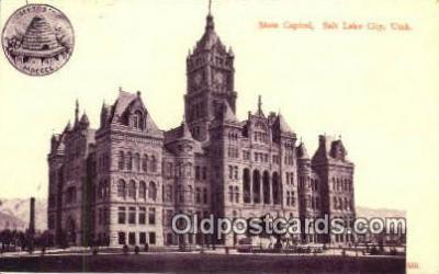 cap001907 - Salt Lake City, Utah, UT  State Capital, Capitals Postcard Post Card USA