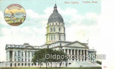 cap001912 - Topeka, Kansas, KS  State Capital, Capitals Postcard Post Card USA