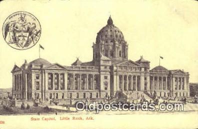 cap001936 - Little Rock, Arkansas, AR State Capital, Capitals Postcard Post Card USA