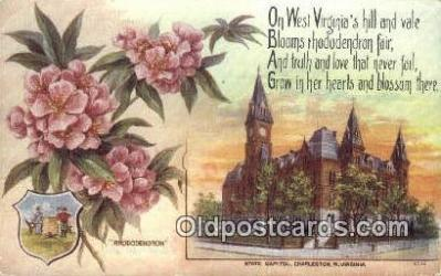 cap001940 - Charleston, West Virginia, WV State Capital, Capitals Postcard Post Card USA