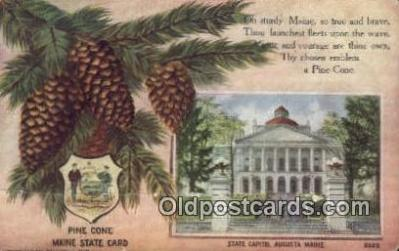 cap001955 - Augusta, Maine, ME State Capital, Capitals Postcard Post Card USA