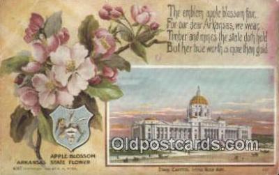 cap001968 - Little Rock, Arkansas, AR State Capital, Capitals Postcard Post Card USA