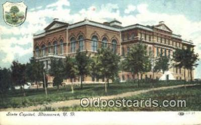 cap001973 - Bismarck, North Dakota, ND State Capital, Capitals Postcard Post Card USA