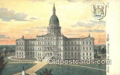 cap001977 - Lansing, Michigan, MI  State Capital, Capitals Postcard Post Card USA
