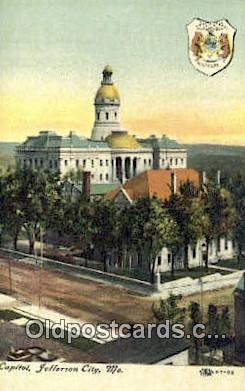 cap001979 - Jefferson City, Missouri , MO State Capital, Capitals Postcard Post Card USA