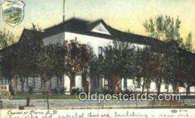cap001982 - Pierre, South Dakota, SD State Capital, Capitals Postcard Post Card USA