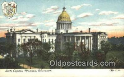 cap001986 - Madison, Wisconsin, WI State Capital, Capitals Postcard Post Card USA